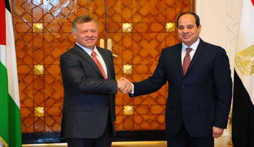 گفتگوی رییس جمهور مصر و پادشاه اردن درباره مسئله فلسطین