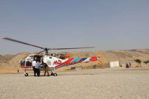 امدادرسانی اورژانس هوایی به بیمار سرفاریابی