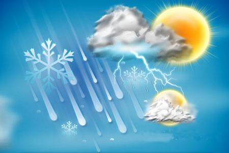 تداوم سامانه بارشی تا شنبه/ گرد و غبار وارد بخشهای جنوبی می شود +جدول