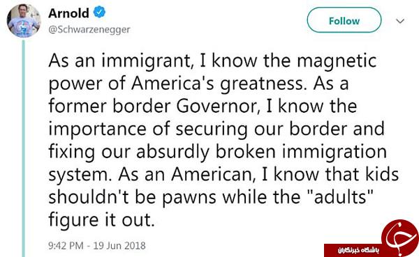واکنش آقای بازیگر نسبت به سیاست ترامپ در مقابل مهاجران غیرقانونی +تصاویر