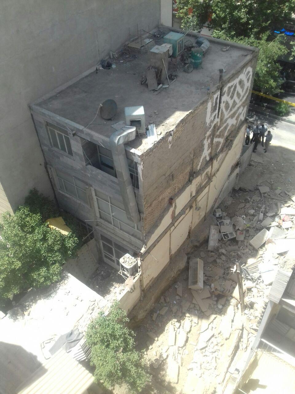 غفلت از شمع بندی موجب ریزش ساختمان مجاور ملک در حال ساخت شد
