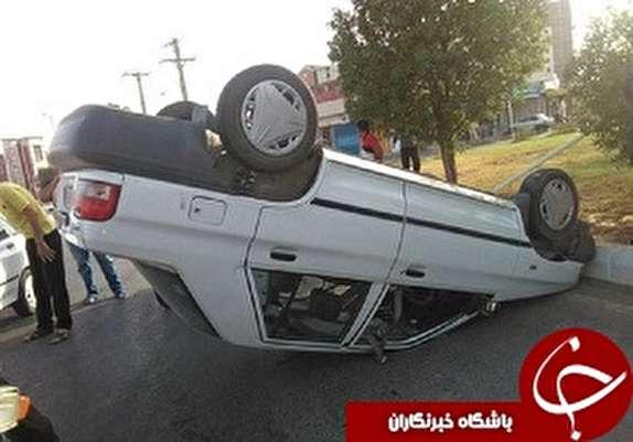 باشگاه خبرنگاران -مصدومیت یک نفر براثر واژگونی خودرو در ورودی خرم آباد