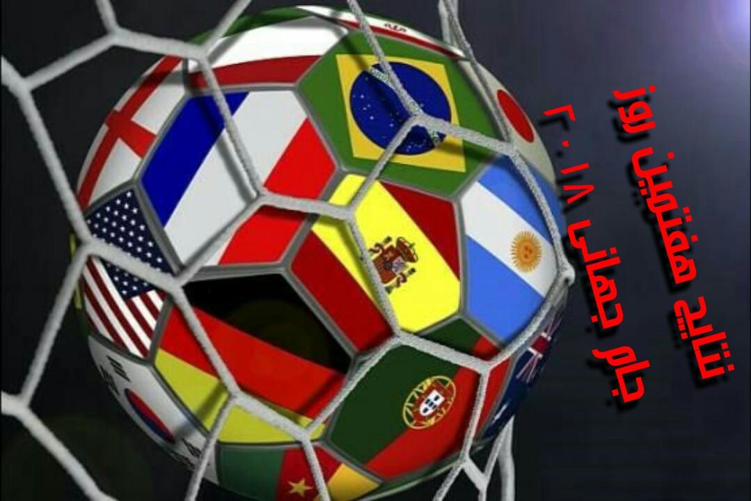 نتایج هفتمین روز جام جهانی ۲۰۱۸ روسیه