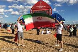 باشگاه خبرنگاران - حضور هواداران ایرانی در شهر کازان پیش از دیدار با اسپانیا