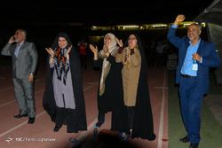 حضور خانواده ها جهت تماشای دیدار تیم های فوتبال ایران و اسپانیا در ورزشگاه آزادی