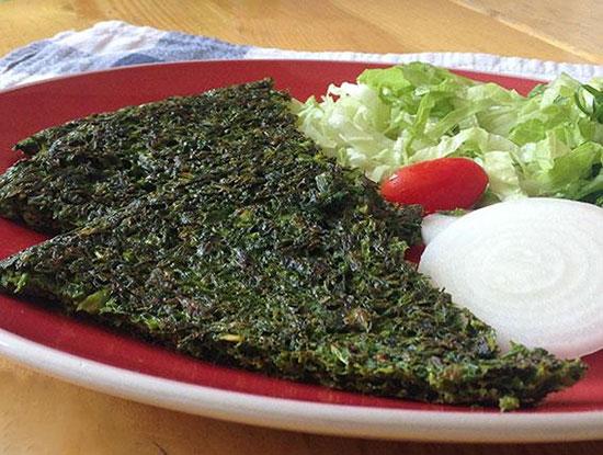 طرز تهیه پخت یک کوکو سبزی با طعمی فوق العاده