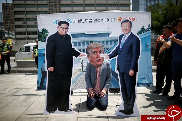 تصمیم اخیر ترامپ درباره کرهشمالی، معترضان خشمگین کرهجنوبی را به خیابانها کشاند+ تصاویر