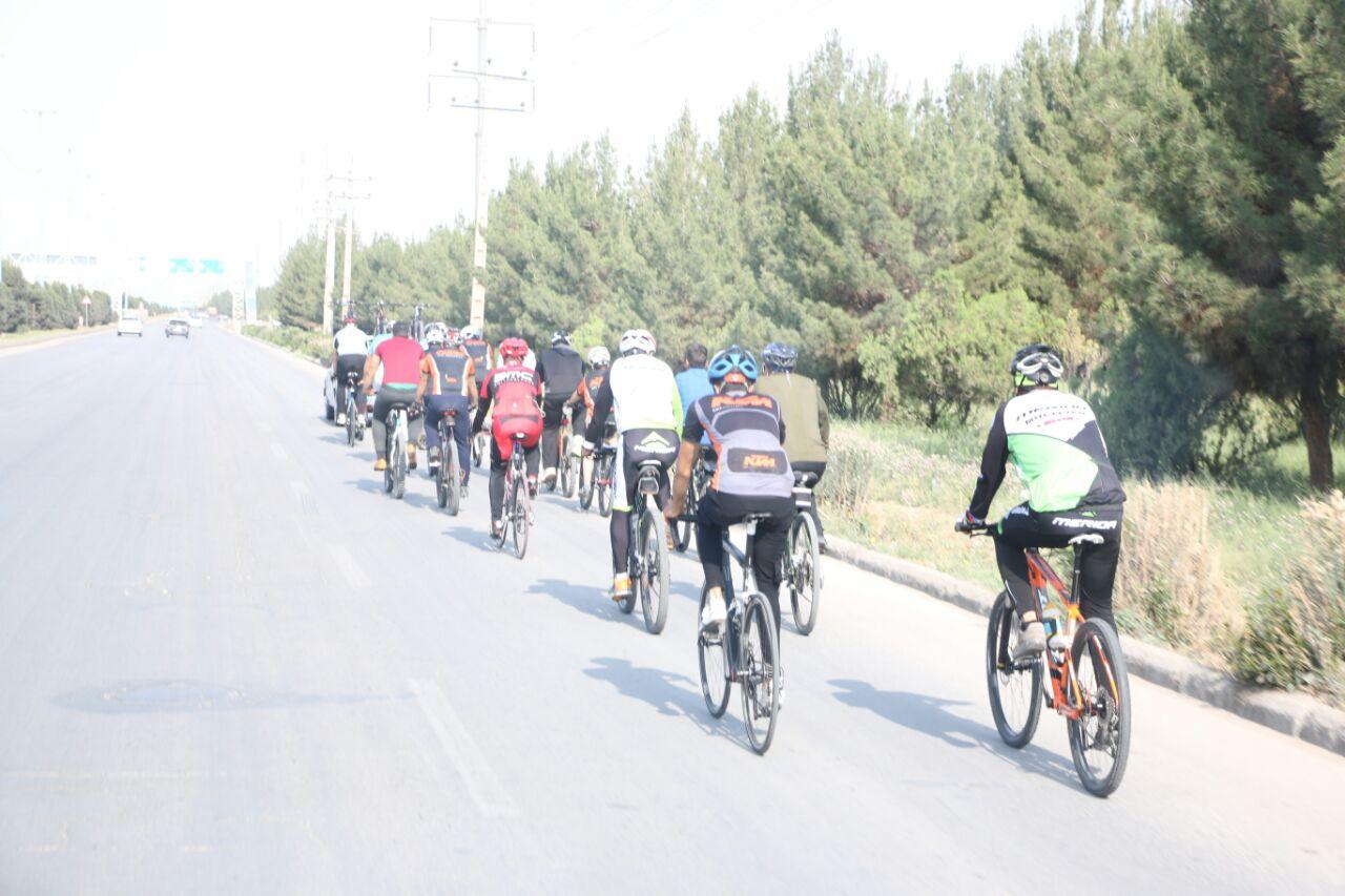  پوشش امدادی دوچرخه سواران حامی اهدای عضو در کرمان + تصاویر