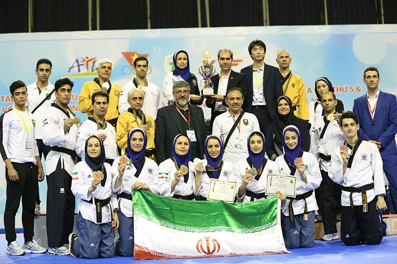 پنجمین دوره مسابقات پومسه قهرمانی آسیا / پومسهروهای ایرانی نایب قهرمان آسیا شدند