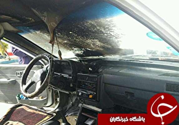 باشگاه خبرنگاران -حریق خودرو در خرم آباد+عکس