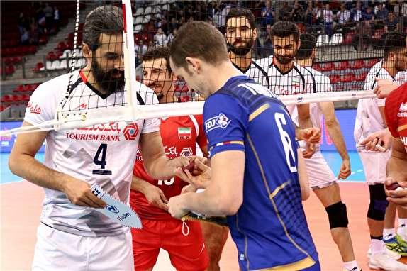 گزارش لحظه به لحظه  تیم  های والیبال ایران و فرانسه
