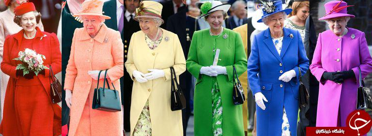 رمز و راز نهفته در سبک پوشش ملکه انگلیس/از رنگ جیغ لباسها تا مراحل پوشیدن کفش!+تصاویر