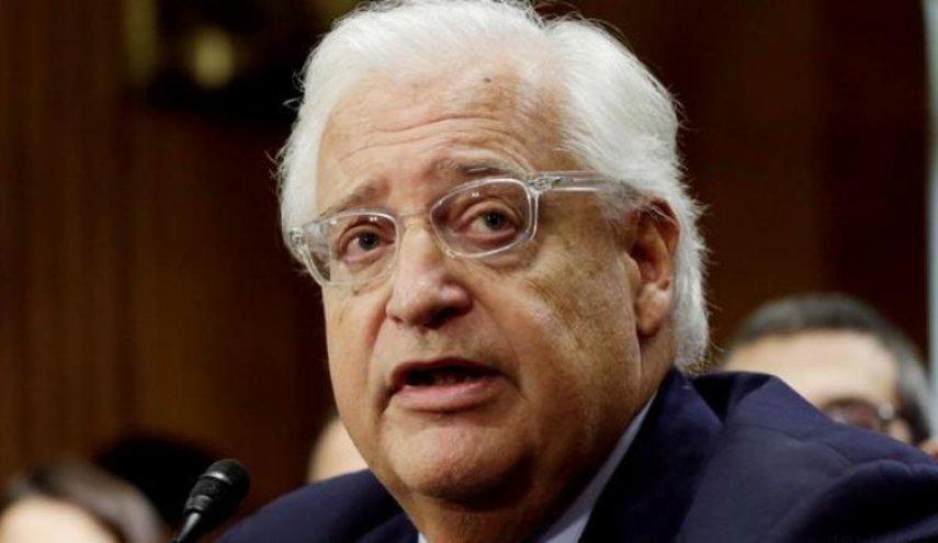 تهدید فلسطینیها از سوی سفیر آمریکا در سرزمینهای اشغالی