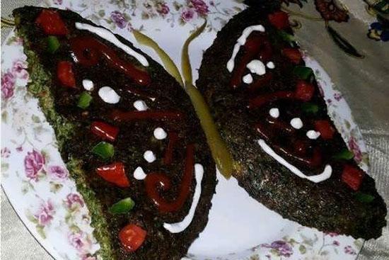 دستور پخت کوکو سبزی و مدلهای تزئین آن