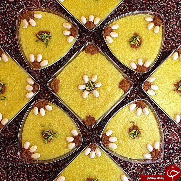 تزیین شله زرد با گل محمدی +تصاویر