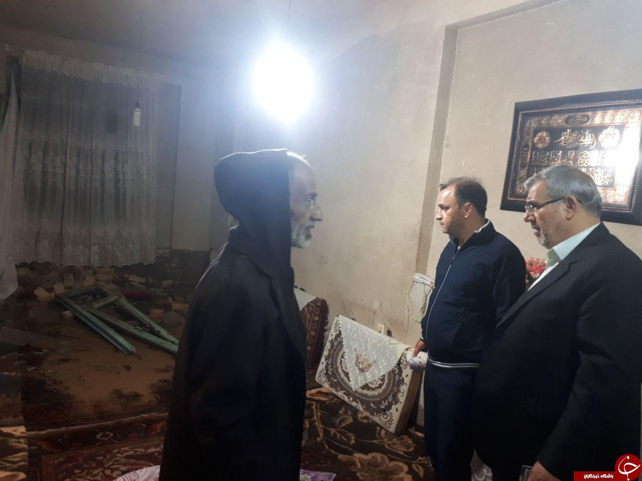 خسارتهای به جا مانده از بارش باران در کوزهکنان + تصاویر