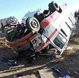 باشگاه خبرنگاران -۱۱ مصدوم در حادثه واژگونی مینی بوس
