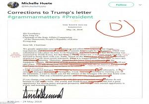 نامه پر از غلط ترامپ به کیم جونگ اون سوژه رسانهها شد