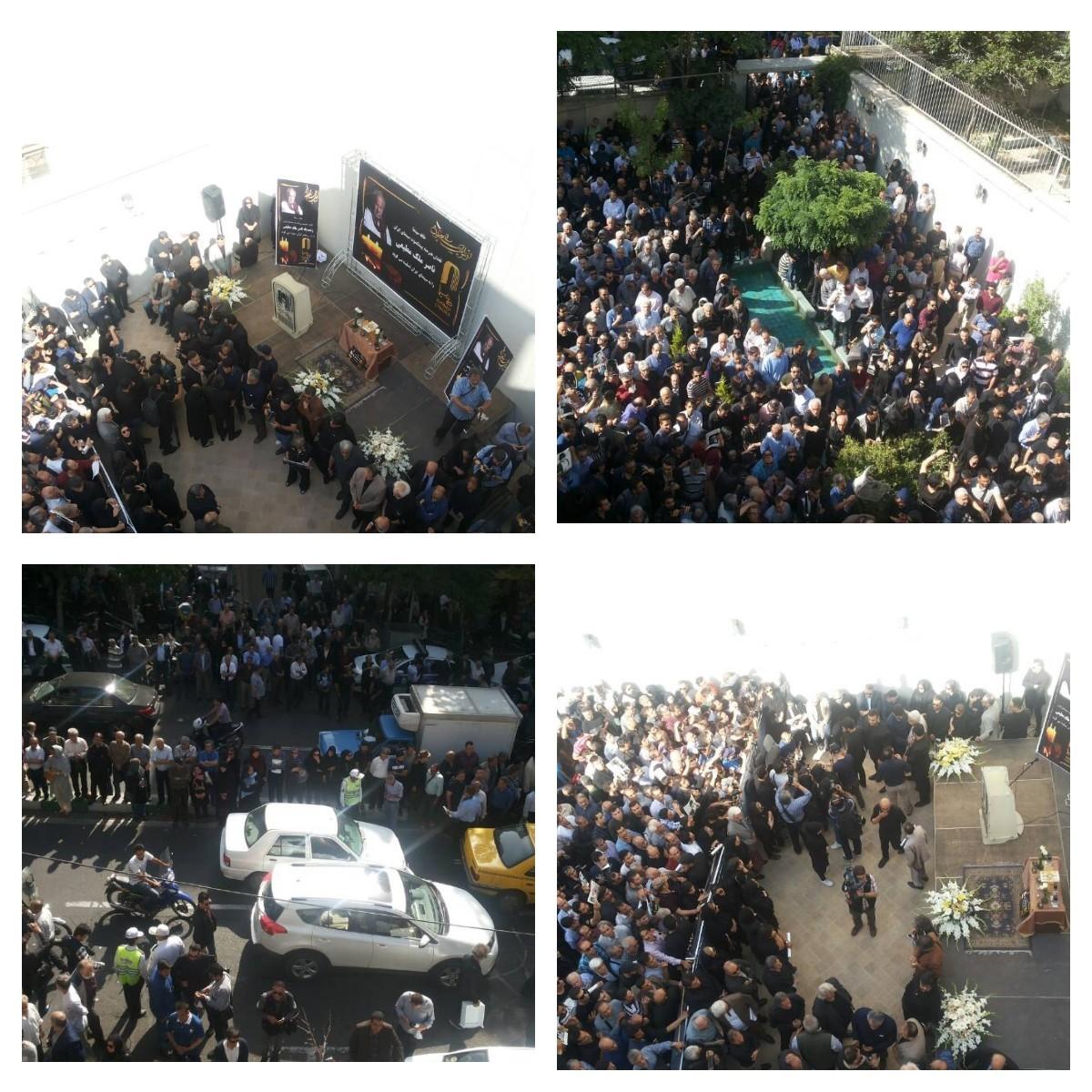 آغاز مراسم تشییع پیکر ناصر ملک مطیعی