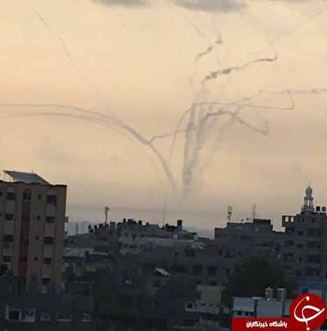 وقوع چند انفجار در نوار غزه/ درخواست ارتش رژیم صهیونیستی از صهیونیستها برای پناه بردن