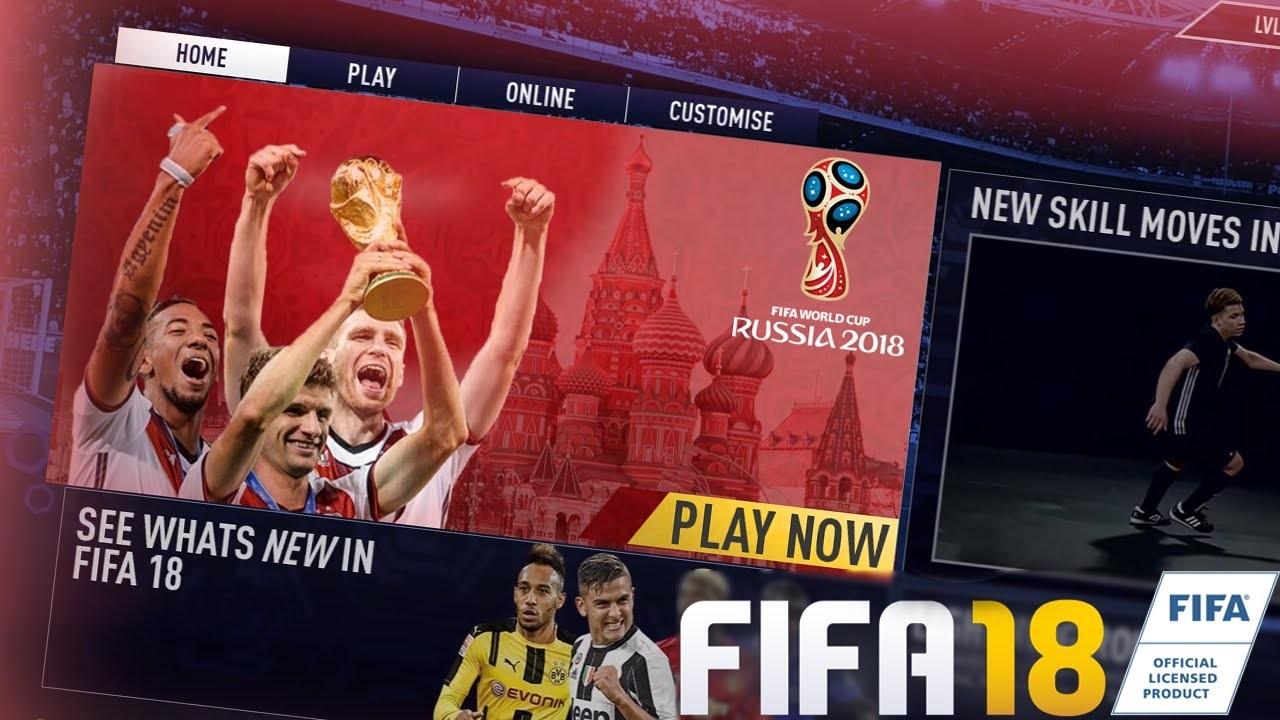 بهروز رسانی جام جهانی برای بازی فیفا 18 منتشر شد