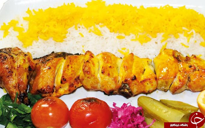 طرز تهیه جوجه کباب رستورانی با ماست و زعفران