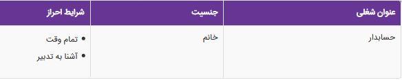 استخدام حسابدار در یک شرکت معتبر در تهران