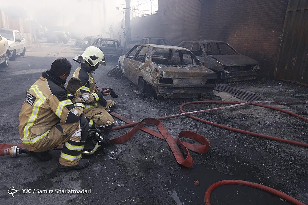 حوادث تهران اخبار تهران آتش سوزی در تهران آتش سوزی امروز