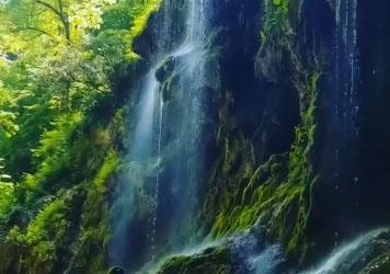 آبشار باران کوه بهشت گمشده در گرگان + فیلم