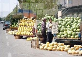 خیابان زهدی در تصرف خودروهای میوهفروش + فیلم