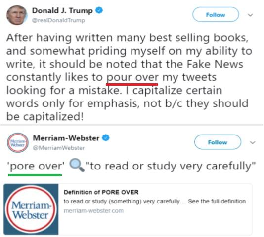 ترامپ: من غلط نمینویسم!