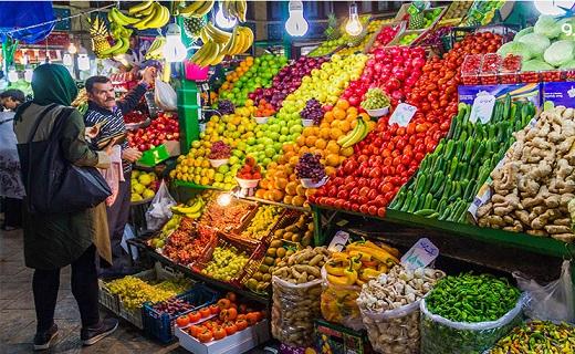 نرخ فروش انواع میوه دستچین در غرفه تره بار