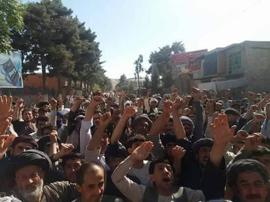 فوری/ تظاهرات ضد دولتی در فاریاب به خوشنت کشیده شد