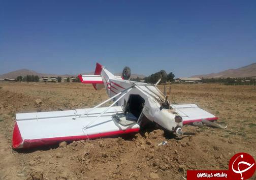 سقوط هواپیمای آموزشی در زرقان