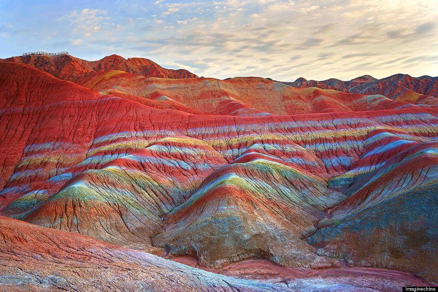 تپه های شگفت انگیز رنگارنگ در چین را ببینید+تصاویر
