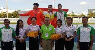 مدال برنز دوی صد متر بر گردن رضایی آرام گرفت
