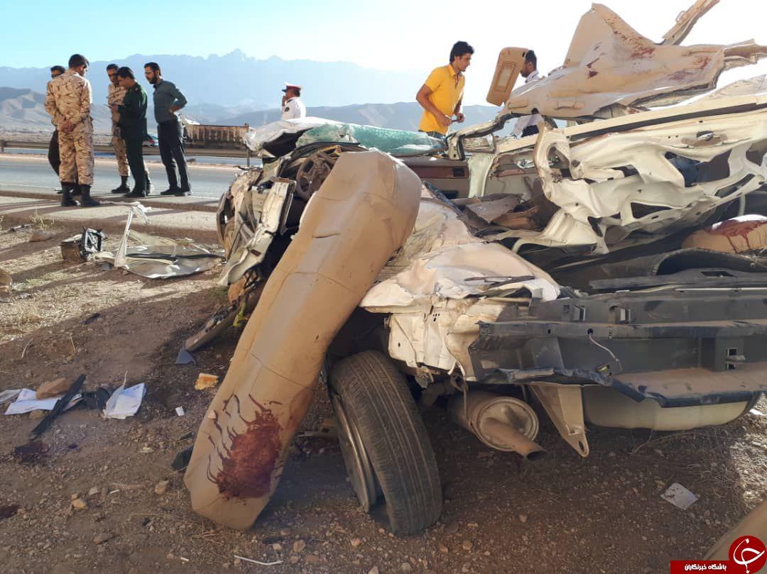 واژگونی مرگبار سمند در محور چترود کرمان + تصاویر