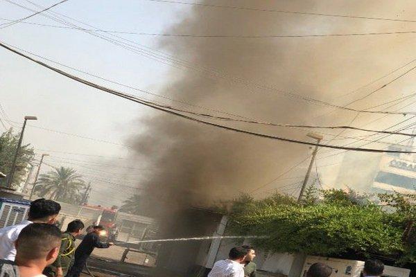 سفارت افغانستان در بغداد طعمه حریق شد