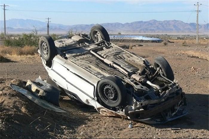 یک کشته بر اثر واژگونی خودرو در جاجرم