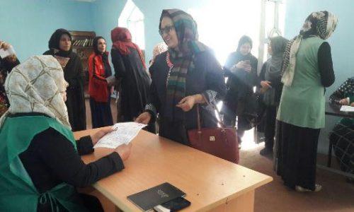 حضور پر رنگ نامزدهای انتخاباتی زن در ولایت هرات