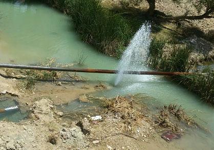 فیلمی از هدررفت آب شرب در گیلانغرب