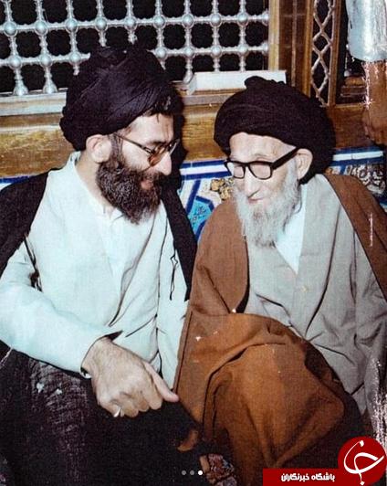 حضور حجت الاسلام رئیسی بر سر مزار پدر رهبرانقلاب +تصاویر