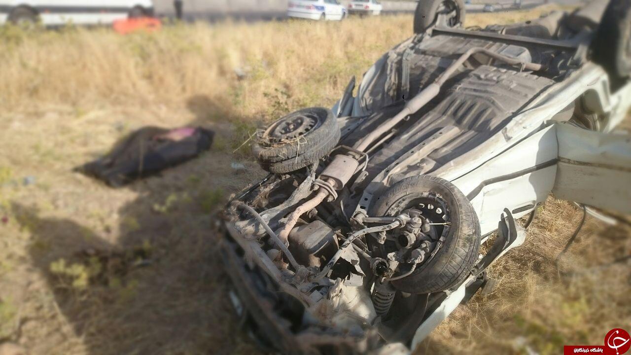 تصادف مرگبار خودرو نیسان و پراید