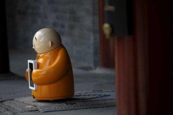 ربات راهبه در معابد چین + فیلم