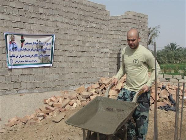 حضور قهرمان تکواندوی جهان در اردوی جهادی دلگان