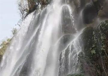 نمایی از آبشار زیبای شوی در دزفول + فیلم