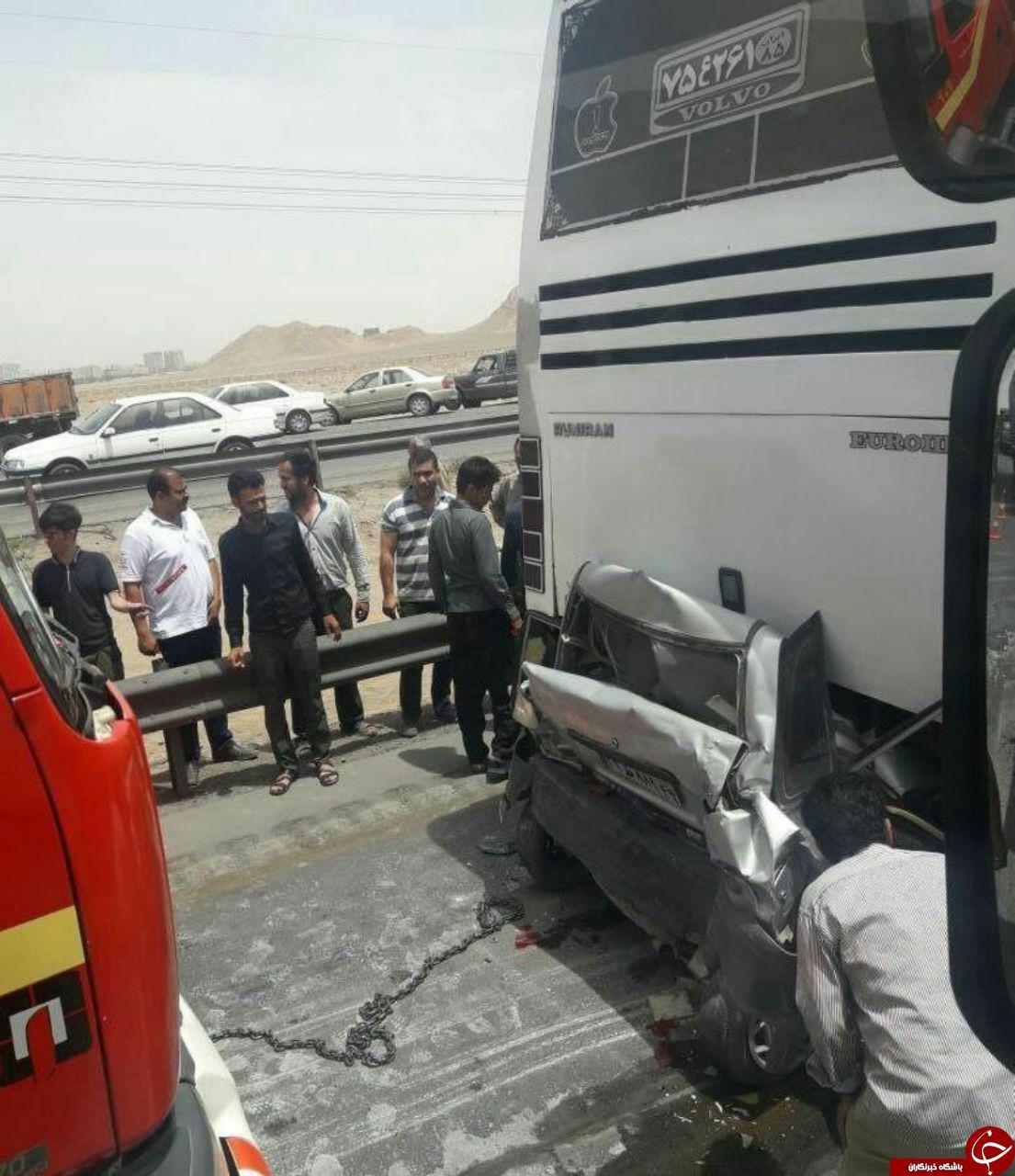 دلخراشترین تصادف در جاده باغچه – مشهد + عکس