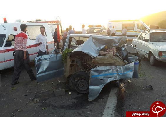 تصادف مرگبار در جاده بوکان-سقز/۳ نفر در دم جان باختند