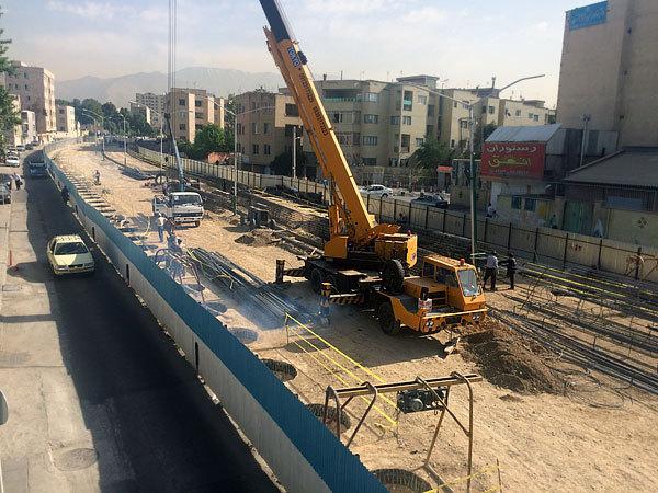زیر گذر استاد معین تبدیل به تونل میشود/ احتمال پایان پروژه در نیمه دوم 98