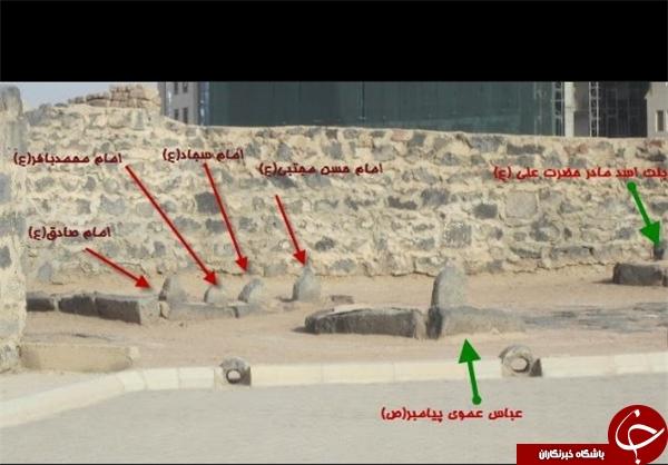 تصاویری از محل دفن امام صادق(ع) در قبرستان بقیع